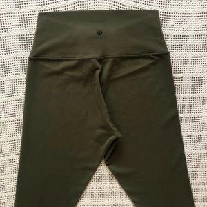 Lululemon Olive Green 7/8 Leggings